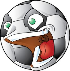 Free Screaming Soccer Ball Stock Photo - 25503840