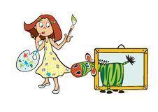 Free Little Girl Artist Royalty Free Stock Image - 25505426