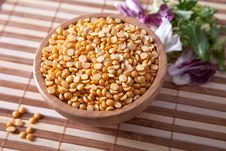 Split Dried Yellow Peas Stock Images
