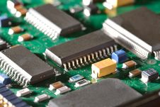 Free Chips On Circuit Board Stock Photography - 25506072