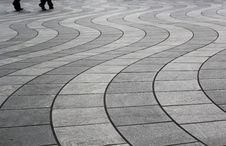 Floor Patterns In Canary Wharf, London Stock Photos