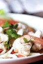 Free Shrimp, Squid Salad Mixed. Royalty Free Stock Image - 25510856