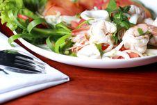 Free Shrimp, Squid Salad Mixed. Stock Photo - 25511020