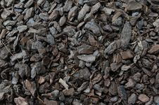 Seamless Tiling Woodchips For Landscaping Stock Photography