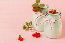 Free Redcurrant Yoghurt Stock Photography - 25514672