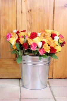 Free Roses In Tinny Boucket Royalty Free Stock Photos - 25516318