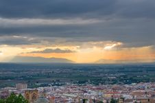 Sunset At Granada Royalty Free Stock Photography