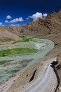 Free Mountain Landscape With River. Zanskar Royalty Free Stock Photos - 25523178