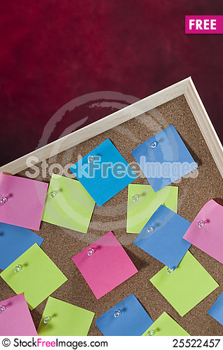 Free Red, Evil, Background With Cork Board Full With Colored Post Notes Royalty Free Stock Photography - 25522457
