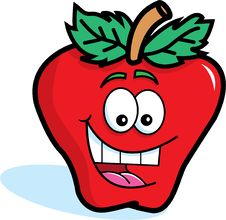 Free Smiling Red Apple Royalty Free Stock Photography - 25520797