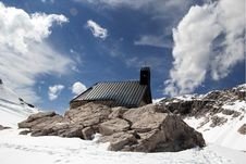 Free Snowy Alpine Landscape With Church In Germany Royalty Free Stock Photography - 25522647