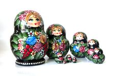 Free Family Of Russian Nested Dolls Royalty Free Stock Photography - 25524857