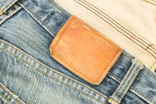 Free Jeans Label Royalty Free Stock Photos - 25526908