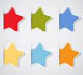 Free Set Of Color Paper Stars Royalty Free Stock Image - 25537316