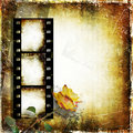 Free Vintage Background With Film Strip And Roses Stock Photos - 25537723