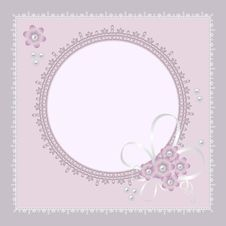 Free Vector Ornate Lace Background Royalty Free Stock Image - 25533456