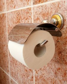 Free Toilet Roll Holder Royalty Free Stock Photos - 25535078