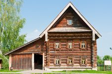Free Two-storey Wooden House Of A Wealthy Farmer. Royalty Free Stock Image - 25536416