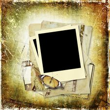 Grunge  Background With Film Strip Royalty Free Stock Images