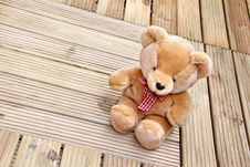 Free Bear Wood Decking Stock Images - 25538474