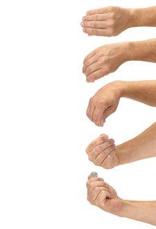 Free A Magic Hand Produces A Coin Stock Photos - 25538523