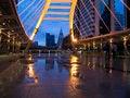 Free Pubic Skywalk At Bangkok Downtown Raining Day Stock Photo - 25542470