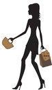 Free Illustration Of Fashionable Women Shopping. Royalty Free Stock Image - 25543236