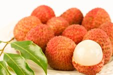 Free The Orang Lychees Or Litchi Chinensis Sonn. Stock Image - 25540711