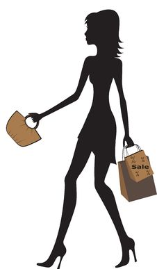 Free Illustration Of Fashionable Women Shopping. Royalty Free Stock Image - 25543236