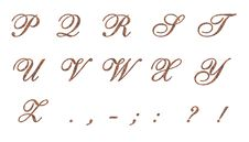Free Ornamental Letters Copper 2 Royalty Free Stock Photos - 25544588