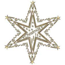 Star Merry Christmas Stock Photo
