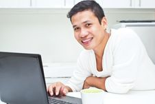 Free Man  With Laptop Stock Photo - 25546660