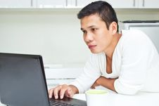 Free Man  With Laptop Stock Photography - 25546692