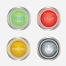 Free Media Buttons Stock Photos - 25549283