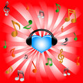 Free Blue Heart And Music Royalty Free Stock Image - 25551246
