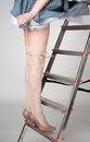 Free Beautiful Slim Female Legs On The Stairway Stock Photo - 25551490