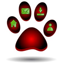 Free Red Paw Of An Animal Stock Photography - 25551262