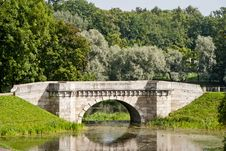 Free Carp Bridge In Gatchina Park Stock Images - 25553314