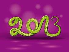 Free Green Snake 2013 Royalty Free Stock Image - 25558386