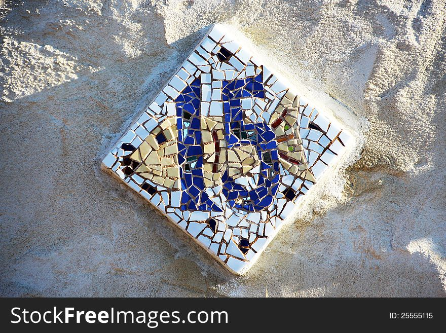 Mosaic Tiled Fish with House Number 15