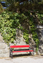 Free Red Bench Royalty Free Stock Photo - 25560375