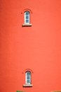 Free Red Building With Two Small Windows Stock Photography - 25561192