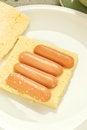 Free Sausage Sandwich Cake Stock Image - 25565821
