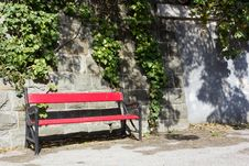 Free Red Bench Stock Photo - 25560370
