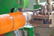 Free Turning Lathe In Action Stock Photography - 25561282