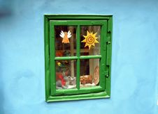 Free Green Window With Decorations Stock Photo - 25561850