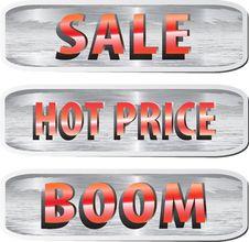 Free Set Of Web Elements For Ecommerce Stock Photo - 25564940