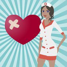 Free Pretty Nurse Royalty Free Stock Image - 25564946