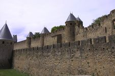 Free The Wall Of The Ancient Castle Of Carcassonne Stock Image - 25565311