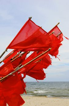Free Signal Flags Collected On Shore Royalty Free Stock Photography - 25568277